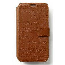 Zenus Lettering Diary for Galaxy S5 - Brown