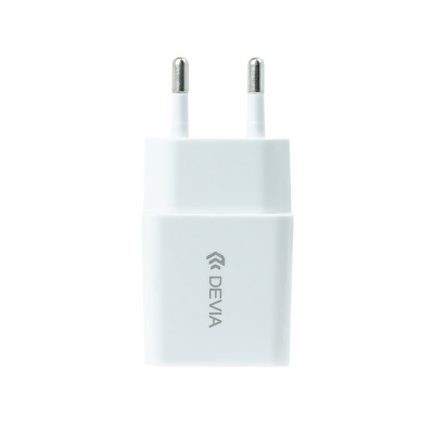 Набор СЗУ с кабелем Lightning MFi Devia Smart Charger Suit 10W - White