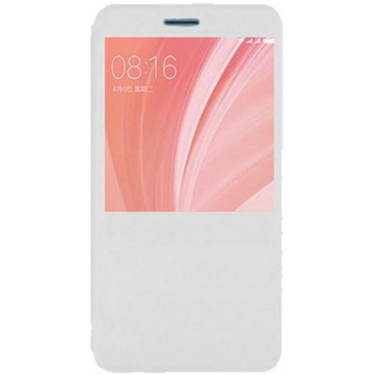 Чехол книжка Dismac Leather Case для Xiaomi Redmi Note 5A - White