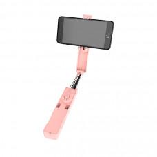 Монопод Borofone BY4 Wireless Selfie Stick - Pink