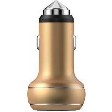 АЗУ Devia Thor Dual USB Port Car Charger - Champagne Gold