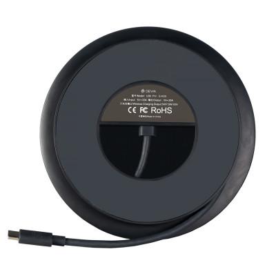 БЗУ Devia UFO 10 in 1 HUB Wireless Charger - Gray