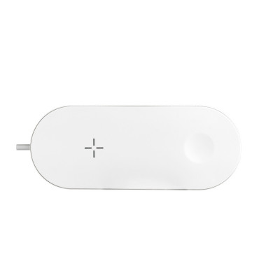 БЗУ Devia 2 in 1 Wireless Charger для iPhone + Apple Watch - White