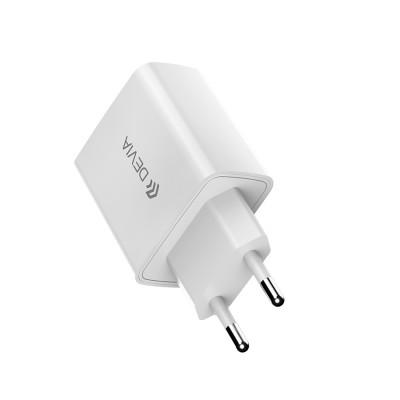 Сетевое зарядное устройство Devia Smart series PD quick charger (EU,20W) - White