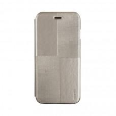 Чехол-книжка для iPhone 6/6S PLUS Hoco Crystal Series Fashion Leather Case - Gold