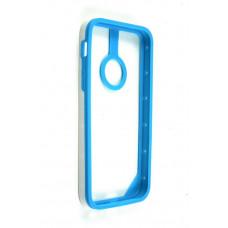 Бампер для iPhone 5C Baseus New Age Bumper - (Blue/White) (бампер для айфон, защита кромок айфона)