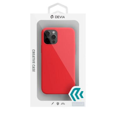Чехол Devia Nature Silicone Case для iPhone 12/iPhone 12 Pro - Red