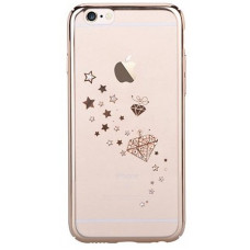 Накладка Devia Crystal Starry для iPhone 6/6S PLUS - Champagne Gold