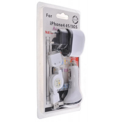 3 in 1 Car Charger for iPhone 4/4S/3GS