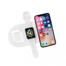 БЗУ Devia 3 в 1 Charger for smartphone&Apple watch&Earphone V4 - White