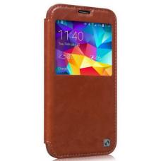 Чехол-книжка для Samsung Galaxy S5 Hoco Crystal Series Leather Case - Brown