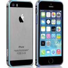 Алюминиевый Бампер для iPhone 5/5S Vouni Buckle Bumper color Match - Gray + Blue